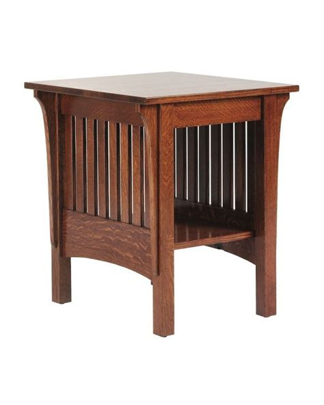mission style cappuccino hardwood dining table chairs 10 best images about end tables on pinterest mission
