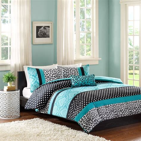 teal black and white bedroom teal and black bedding
