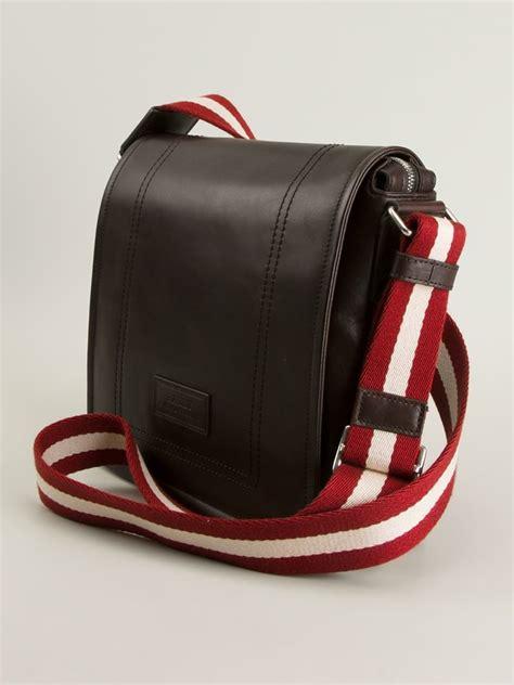 Bally Bottine Messenger Bag by Lyst Bally Medium Messenger Bag In Black For