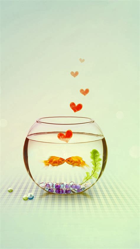 wallpaper hd iphone 6 love cute love fish heart iphone 6s wallpapers hd