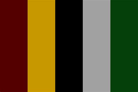 gryffindor colors gryffindor and slytherin color palette