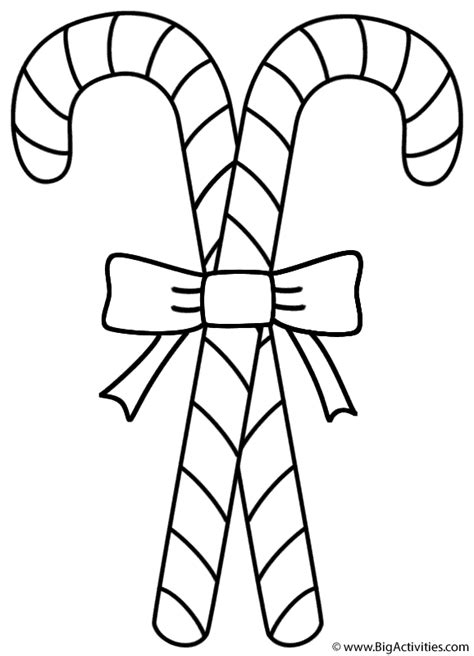 candy canes coloring page christmas