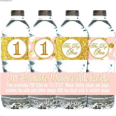 labels for water bottles template free free water bottle label template bridal shower sle