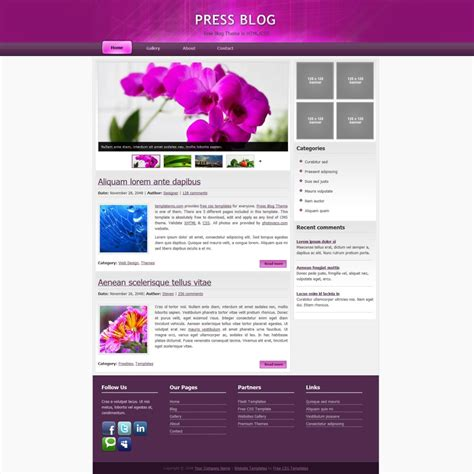 free html website templates source code download free