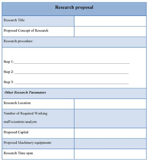 research proposal template great printable calendars