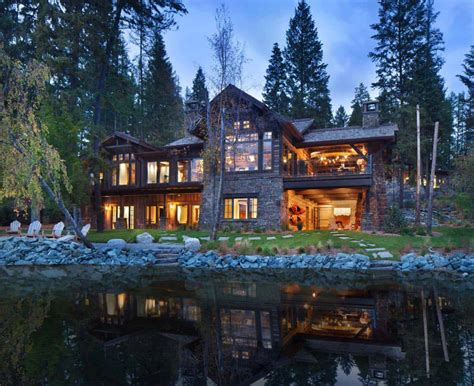 breathtaking montana lake house offers timeless rustic