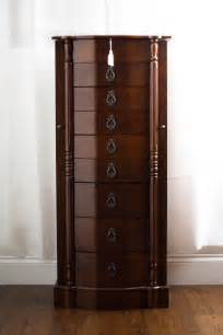 How To Make Jewelry Armoire Robyn Jewelry Armoire With Mirror Walnut Hives And Honey