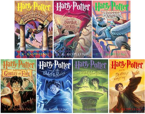 picture of harry potter books retrospective of harry potter book covers potter talk