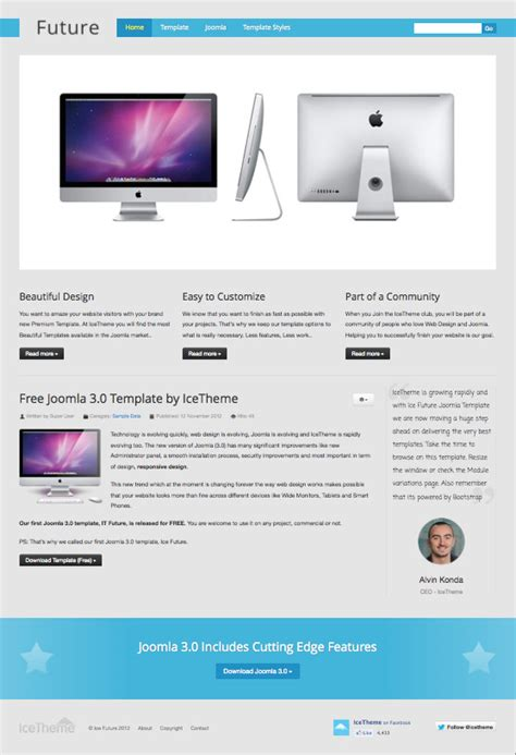 template joomla 3 free it future free responsive joomla 3 0 template