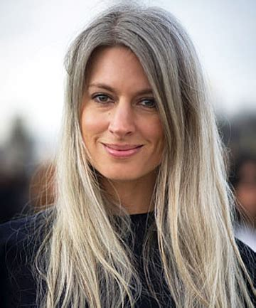 how to flaunt gray hair like a celebrity | long grey hair