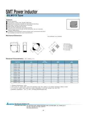 delta power inductors delta electronics smt power inductor silm315 user guide for free 4bd0d manual guru