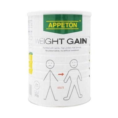 Appeton Weight Gain Kotak jual appeton weight gain coklat anak 900 gr