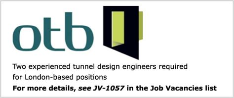 design engineer job london tunnel design engineers london uk