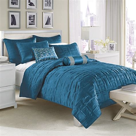 peacock blue bedroom nicole miller city squares coverlet peacock bed bath