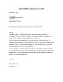 Database Engineer Cover Letter by Model Of Database Administrator Cover Letter
