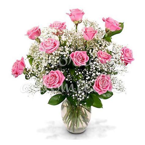 fiori di colore rosa bouquet di 12 roselline rosa fiori festa della donna