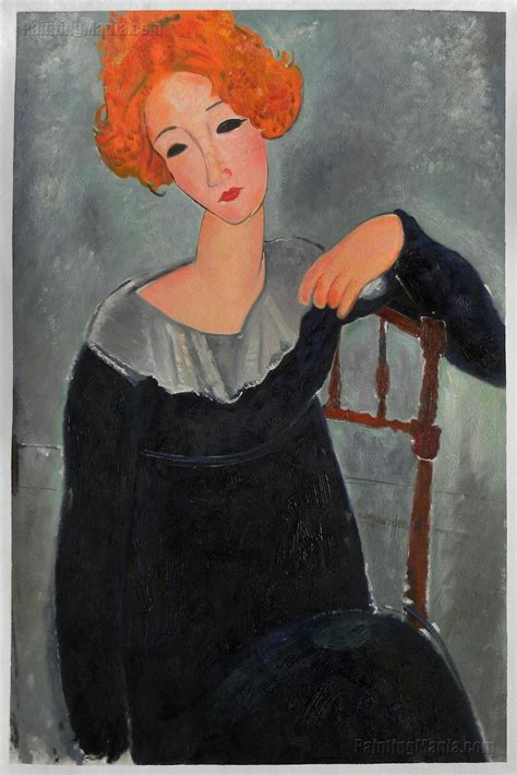 modigliani woman with a woman with red hair amedeo modigliani paintings