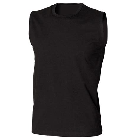 Black Sleeveless Shirt new skinni fit mens stretch sleeveless t shirt vest top in black white s xl ebay