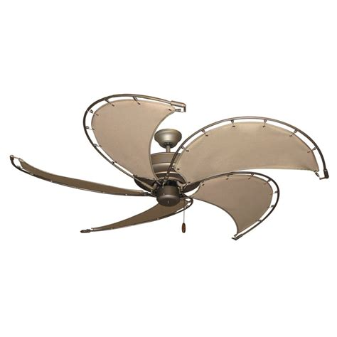 ceiling fans with fabric blades gulf coast nautical raindance ceiling fan antique bronze