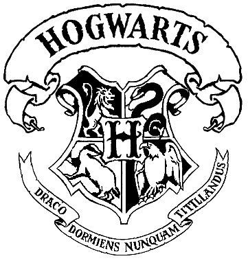 harry potter house logos coloring pages hogwarts crest stencil pinteres