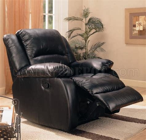 Black Fabric Recliner Chair by Black Leather Like Fabric Modern Rocker Recliner W Pillow Arms