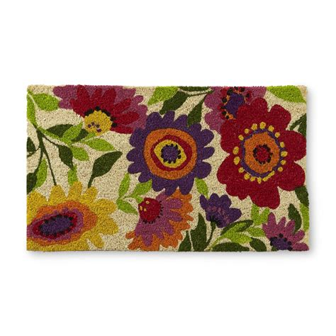 Bright Floral Rugs by Bright Floral Doormat Home Home Decor Rugs Doormats