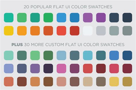 flat color combination 50 flat ui color swatches palettes on creative market