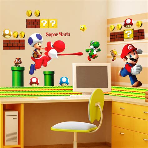 mario stickers for walls mario wall stickers wall ideas