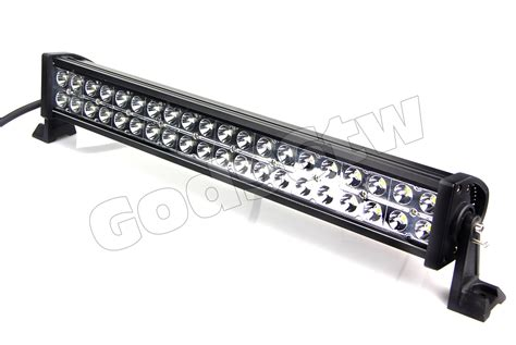 How To Make An Led Light Bar 24 Quot 120w Led Light Bar Road Work 10000lm Atv Utv Jeep Suv Truck 4wd Car Hid Ebay