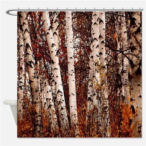 birch tree shower curtain birch tree bathroom accessories decor cafepress