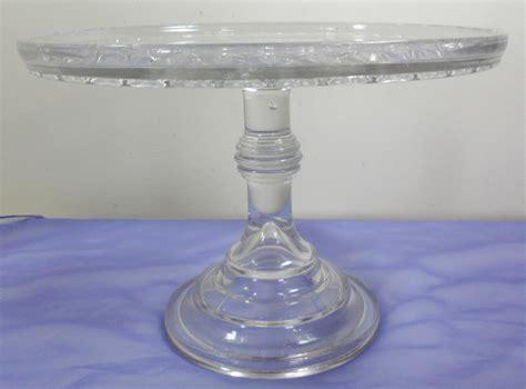 Antique Cake Plates Pedestal htf antique eapg bryce higbee spirea band pink glass