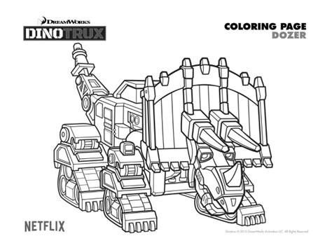 dinotrux coloring page free printable dinotrux dozer coloring page birthday