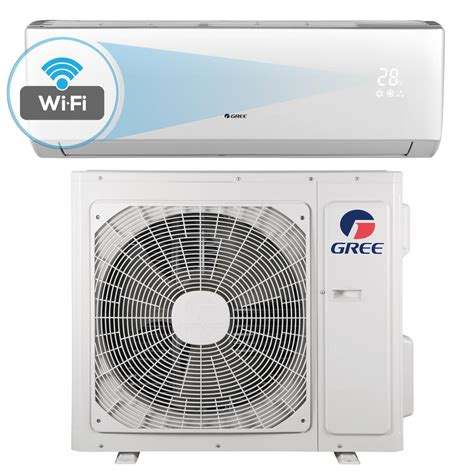 Top 5 Mini Split Air Conditioners - gree livo 18 000 btu 1 5 ton wi fi programmable ductless