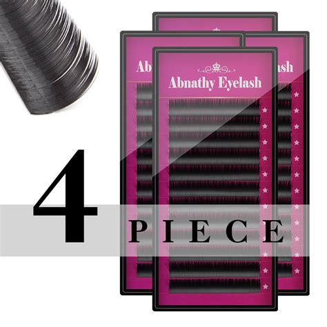 Abnathy Eyelash Extension all size j b c d curl 4pcs lot abnathy lashes extensions ciglia finte individual faux falsa