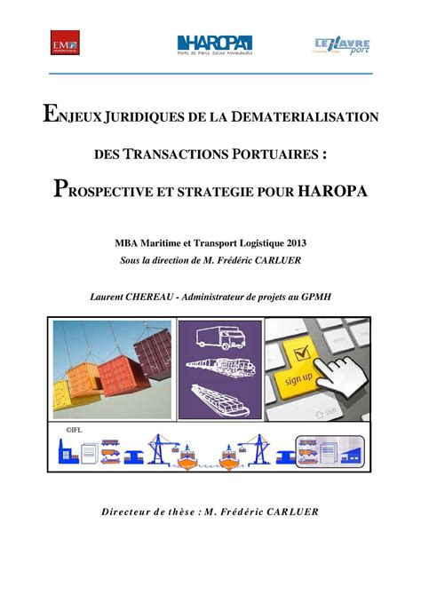 Maritime Mba Program by Calam 233 O Mba Maritime Transport Logistics L Chereau 2013