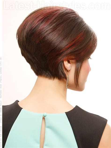 photos of the back of a haircut with a w neckline back of short bob hairstyles all hair style for womens