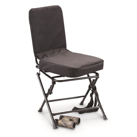 Guide Gear Swivel Hunting Chair Black 222292 Stools Swivel Blind Chair