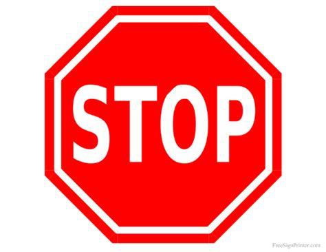 printable road signs printable stop sign