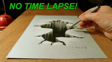 How To Make 3d Drawings On Paper - no time lapse trick on paper drawing 3d