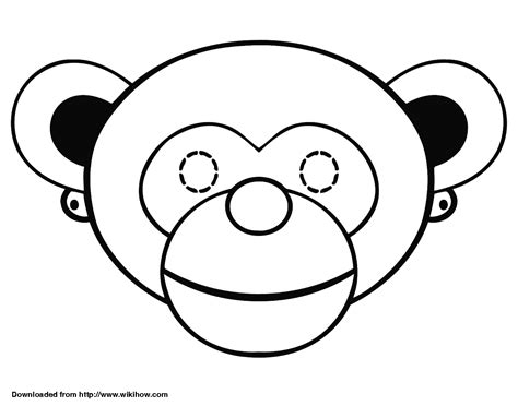 monkey mask coloring page the create your fox mask monkey mask coloring page
