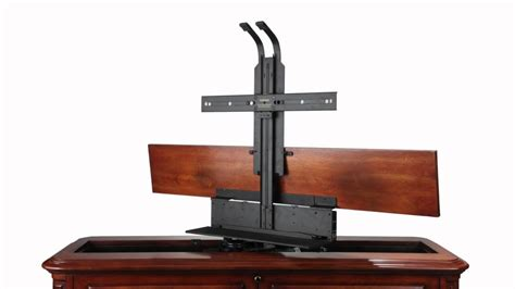 tv cabinet lift mechanism crystal pointe brown 360 swivel end of bed tv lift cabinet