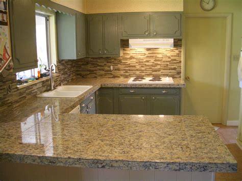 Granite Tile Kitchen Countertops Glass Tile Kitchen Backsplash Special Only 899