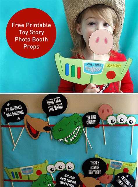 themes of the story my lost dollar toy story photo booth props free printable pdf photo