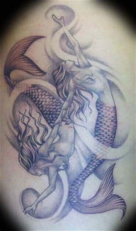 mermaid pisces tattoo pisces images designs