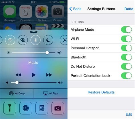 themes for control center ios 8 ios 8 may let you add remove and reorder toggles in