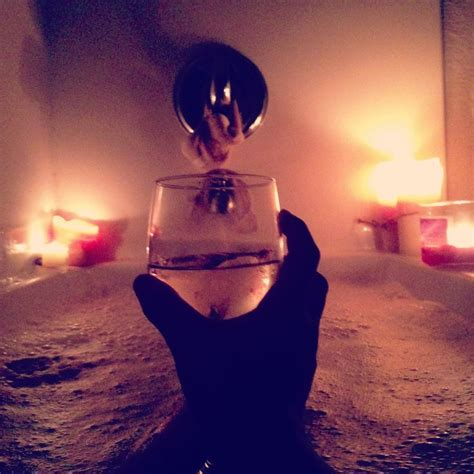 bathtub wine candle lit bath with a glass of wine my life pinterest