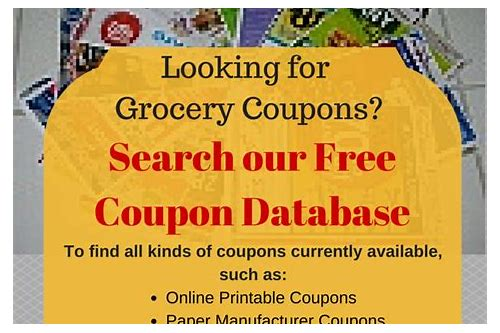 listing of coupons in sunday paper