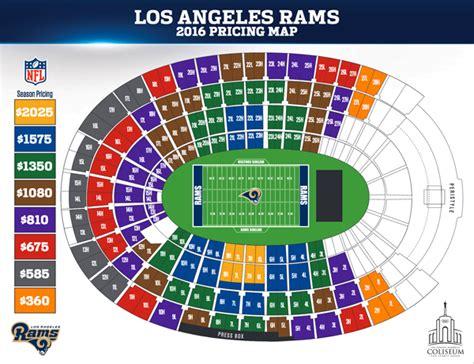 stl rams football schedule los angeles rams announce 2016 season ticket prices