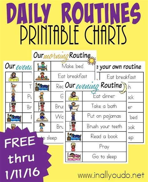 printable toddler daily routine 25 best ideas about daily routine chart on pinterest