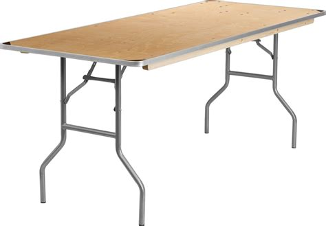 heavy duty metal folding table 30 x 72 rectangular heavy duty birchwood folding